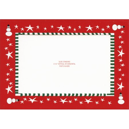 LPG Greetings Snowman Photo Holder Holiday Card ()