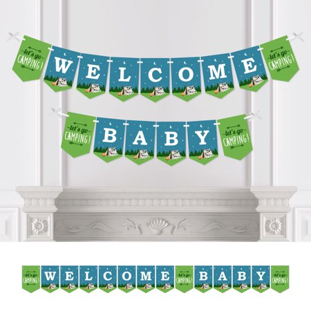 Happy Camper - Camping Baby Shower Bunting Banner - Party Decorations - Welcome - Camping Decorations