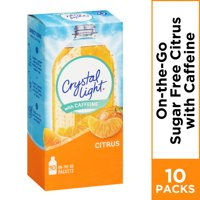 (20 Packets) Crystal Light Citrus On-The-Go Powdered Drink Mix, 0.09 oz