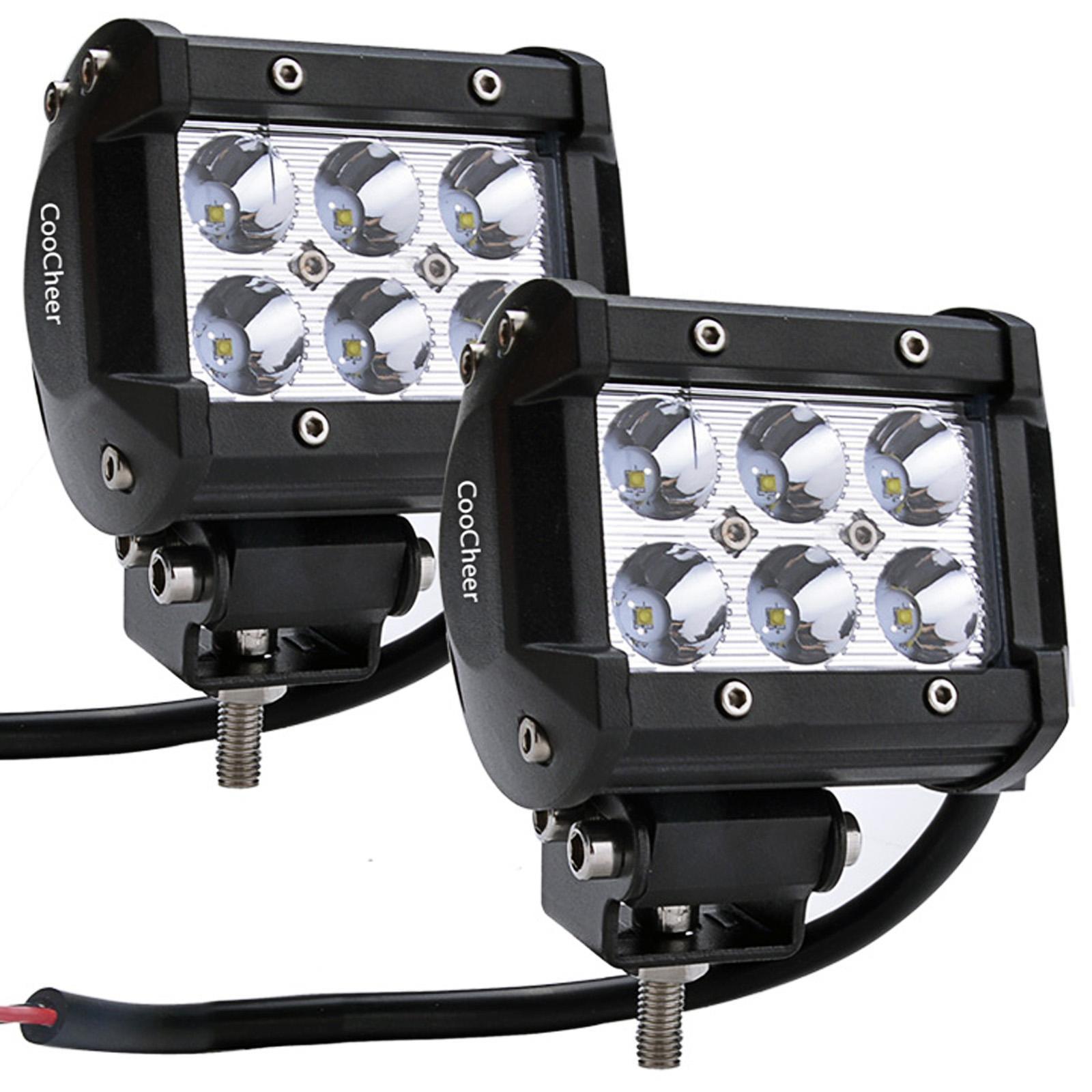 2 Pcs LED Fog Flood Light  Spot Work Bar Light 6500K IP68...