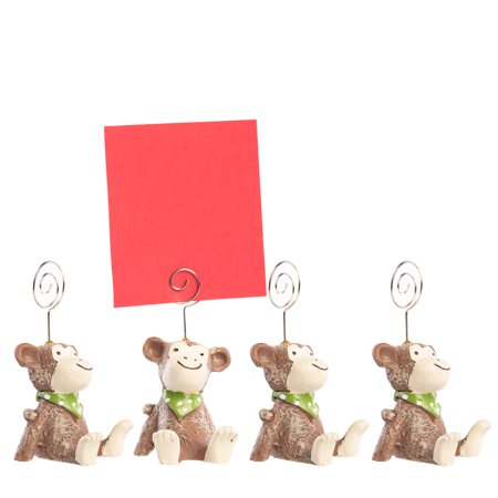 (4 Pack) Animals Picture Clip Card Holder Home Decor Office Desk Accessories Cute Office Supplies