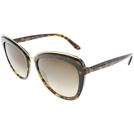 Dolce & Gabbana Women's Gradient DG4304-502/13-57 Brown Butterfly (Havana Lens Brown Gradient Frame)