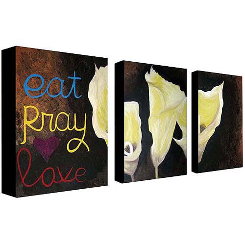 "Trademark Fine Art ""Eat Pray Love"" Canvas Wall Art  Setby Amanda Rea"