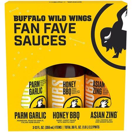 Buffalo Wild Wings 3 Pack Variety Sauces, 3-12 fl (Best Wing Sauce At Buffalo Wild Wings)