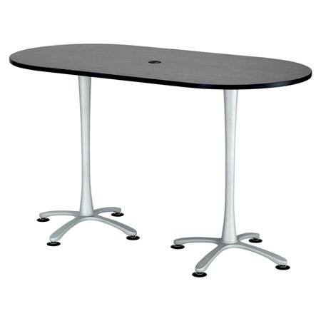 Safco Cha-Cha 72-in. Bistro Height Dual Pedestal Racetrack
