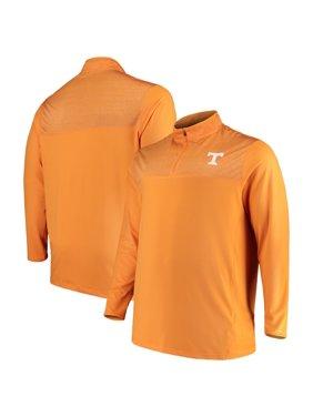 Tennessee Volunteers Colosseum Big & Tall Savoy Quarter-Zip Pullover Jacket - Tennessee Orange/Heathered Tennessee