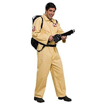 ghostbusters deluxe jumpsuit, beige, one size - Ghostbusters Jumpsuit