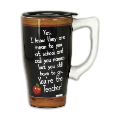 Funny Mean Names You're The Teacher Ceramic Travel Mug Coffee Cup With Lid (Funny Coffee Travel Mugs)