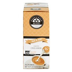 Carlton Creamer (Executive Suite Half And Half Liquid Coffee Creamer Singles, 0.38 Oz, Carton Of 192 Coffee)