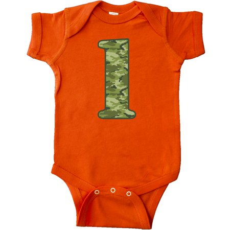 Inktastic Green Camo 1st Birthday Infant Creeper Camouflage Fatigue Soldier Baby
