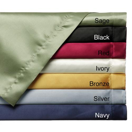 Convert-A-Fit Satin Sheet Set - Fitted and Flat Sheet are Attached. Queen - Ivory