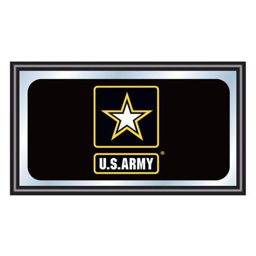 Trademark Poker U. S.  Army Framed Logo Mirror
