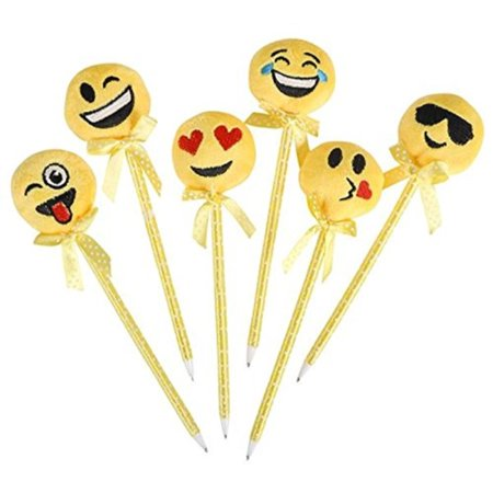 Fun Stocking Stuffers (12 plush emoji pens - emoji stocking stuffers and)