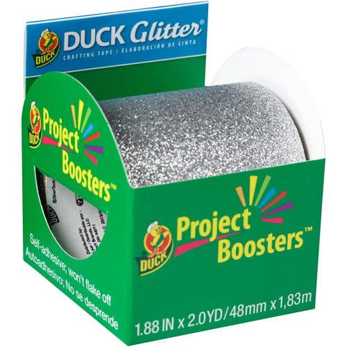 "Duck Brand Project Glitter Tape, 1.88"" x 2 yds, Silver"