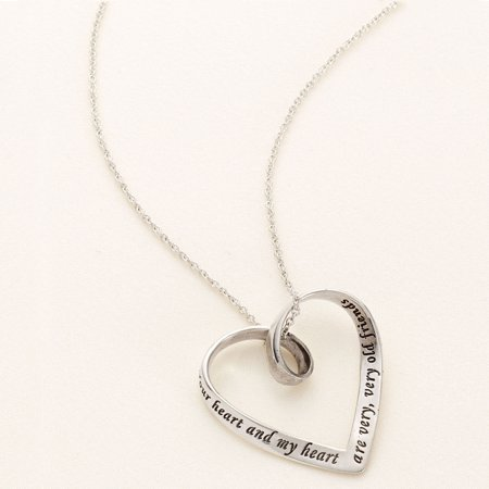 Your Heart and My Heart Are Very, Very Old Friends - Inscribed Mobius Necklace