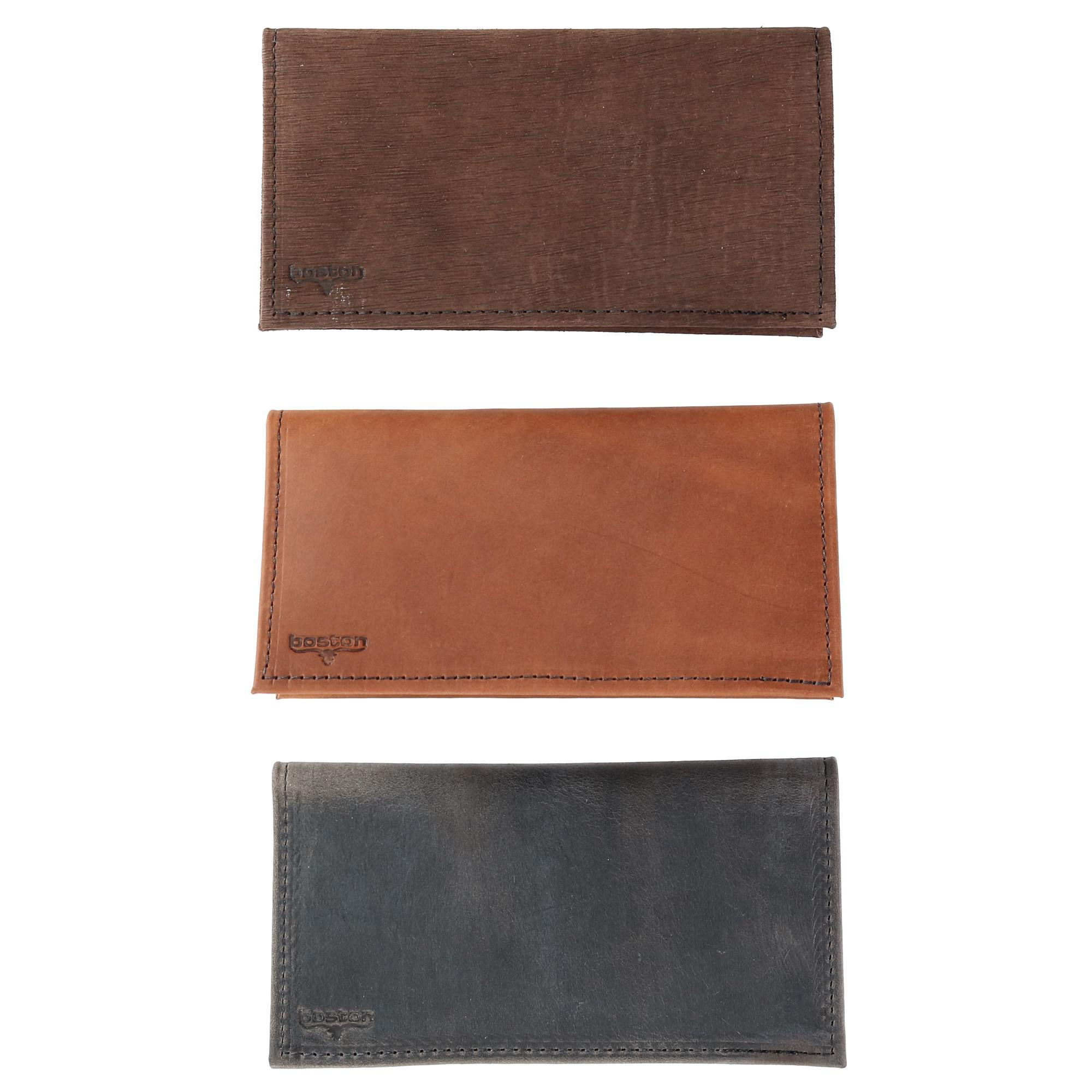 Boston Leather Multi Leather Checkbook Cover Set (Pack of 3) - image 6 of 6