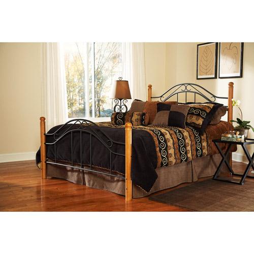 Winsloh Full Bed, Medium Oak and Black