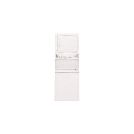 GE UNITIZED SPACEMAKER 3.2 CU.' DOE WASHER & 5.9 CU.' ELECTRIC DRYER, WHITE