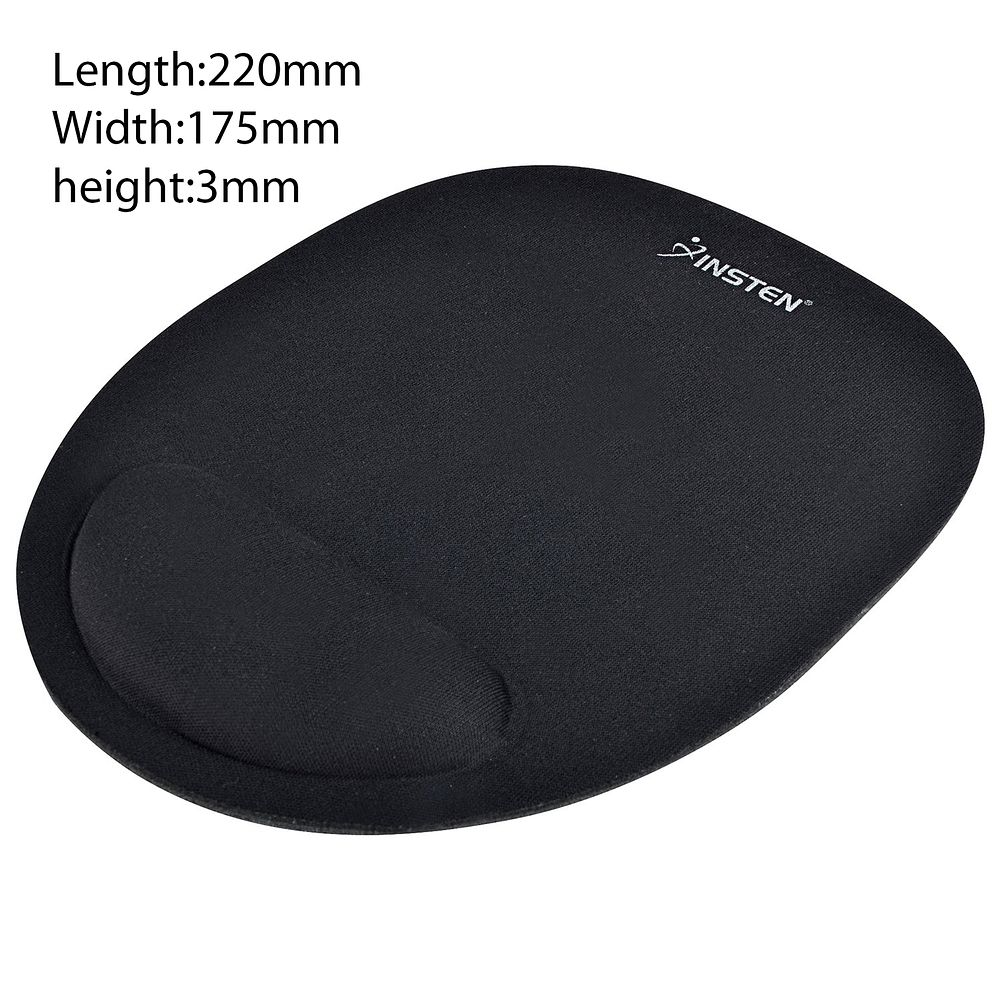 Mouse Pad with Wrist Rest Mouse Pad with Wrist Support by Insten Comfortable Mouse pad Mousepad - Black