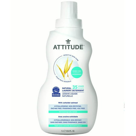 Attitude Sensitive Skin Care Laundry Detergent, Fragrance Free, 35 Loads