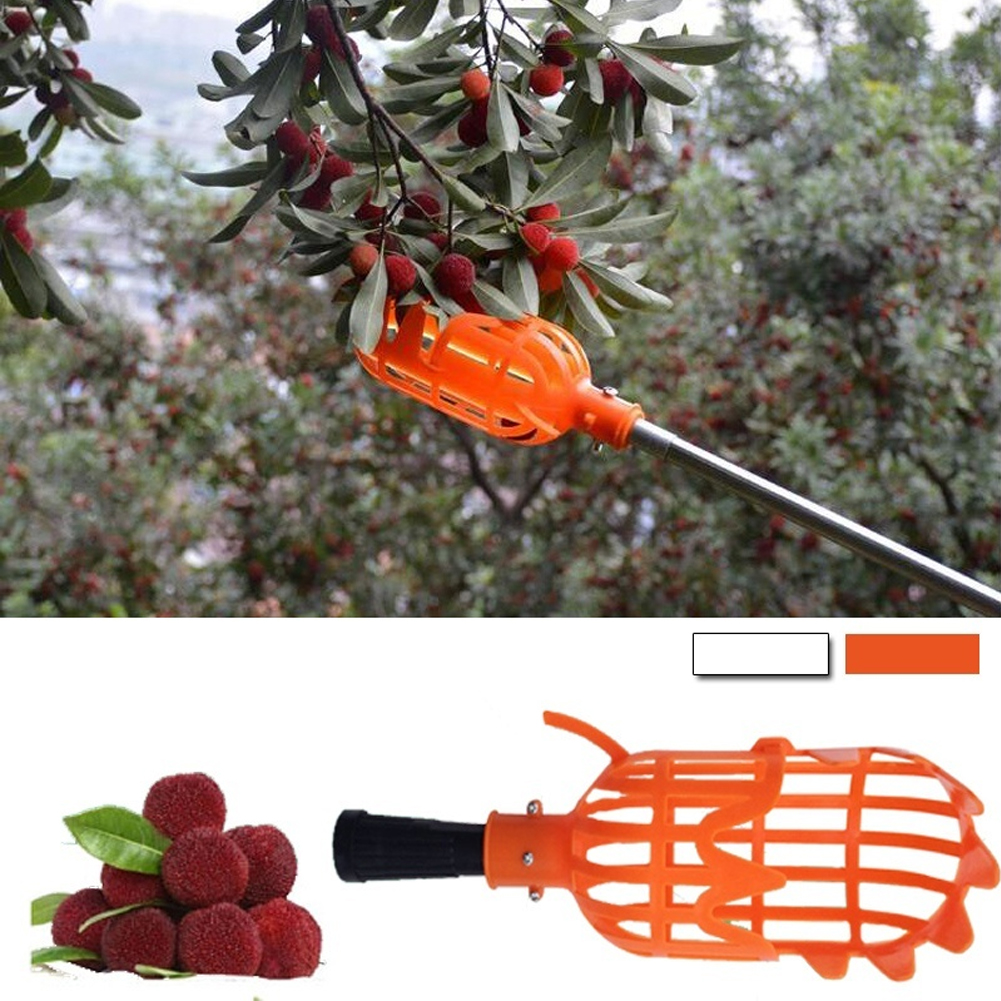 Fruit Picker Orange Plastic Practical Gardening Picking Tool Fruit Catcher