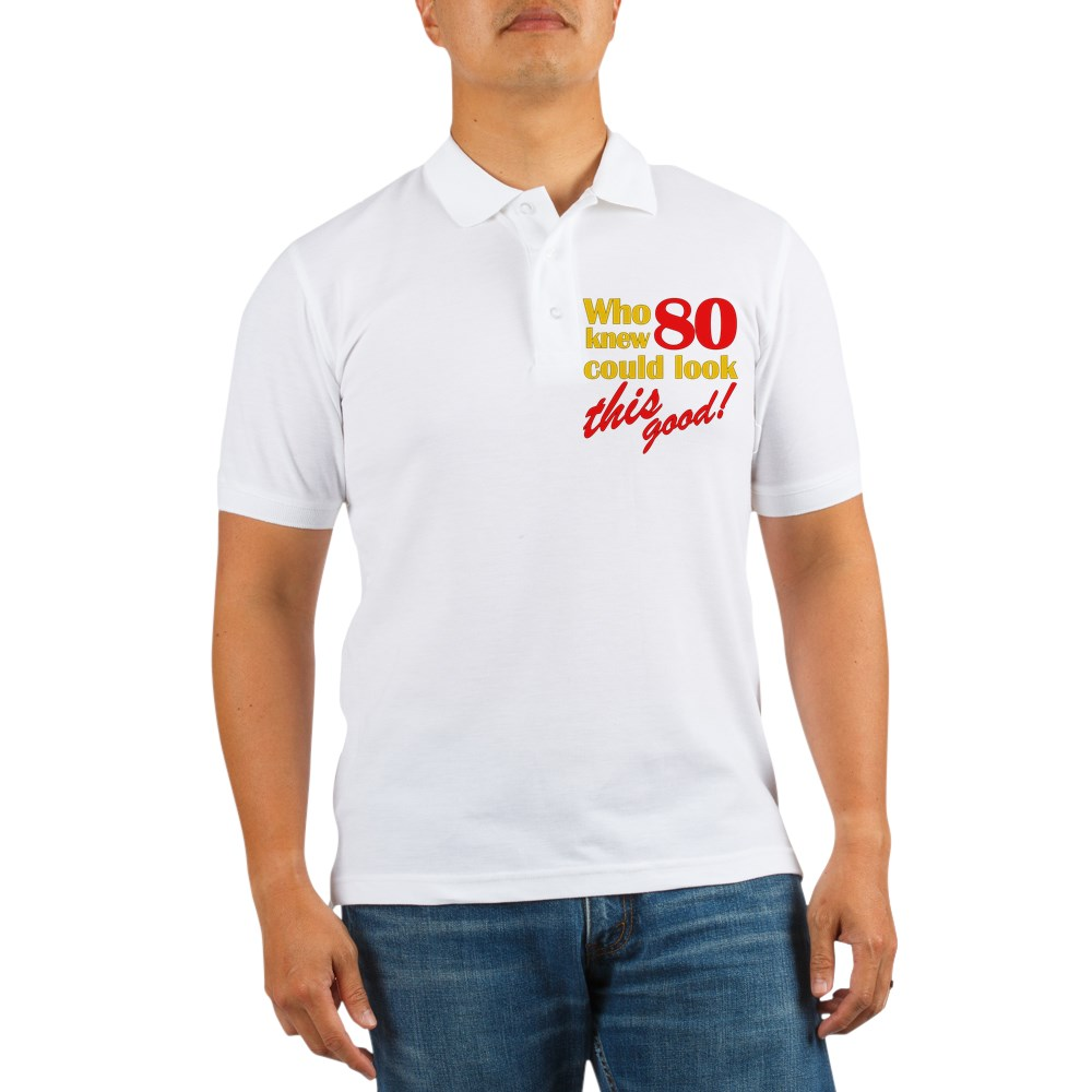 CafePress - Funny 80Th Birthday Gag Gifts Golf Shirt - Golf Shirt, Pique Knit Golf Polo