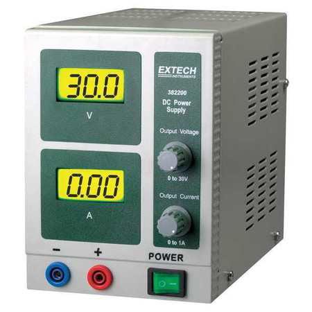 EXTECH 382200 Digital Single Output DC Power Supply (Extech Digital Power Supply)