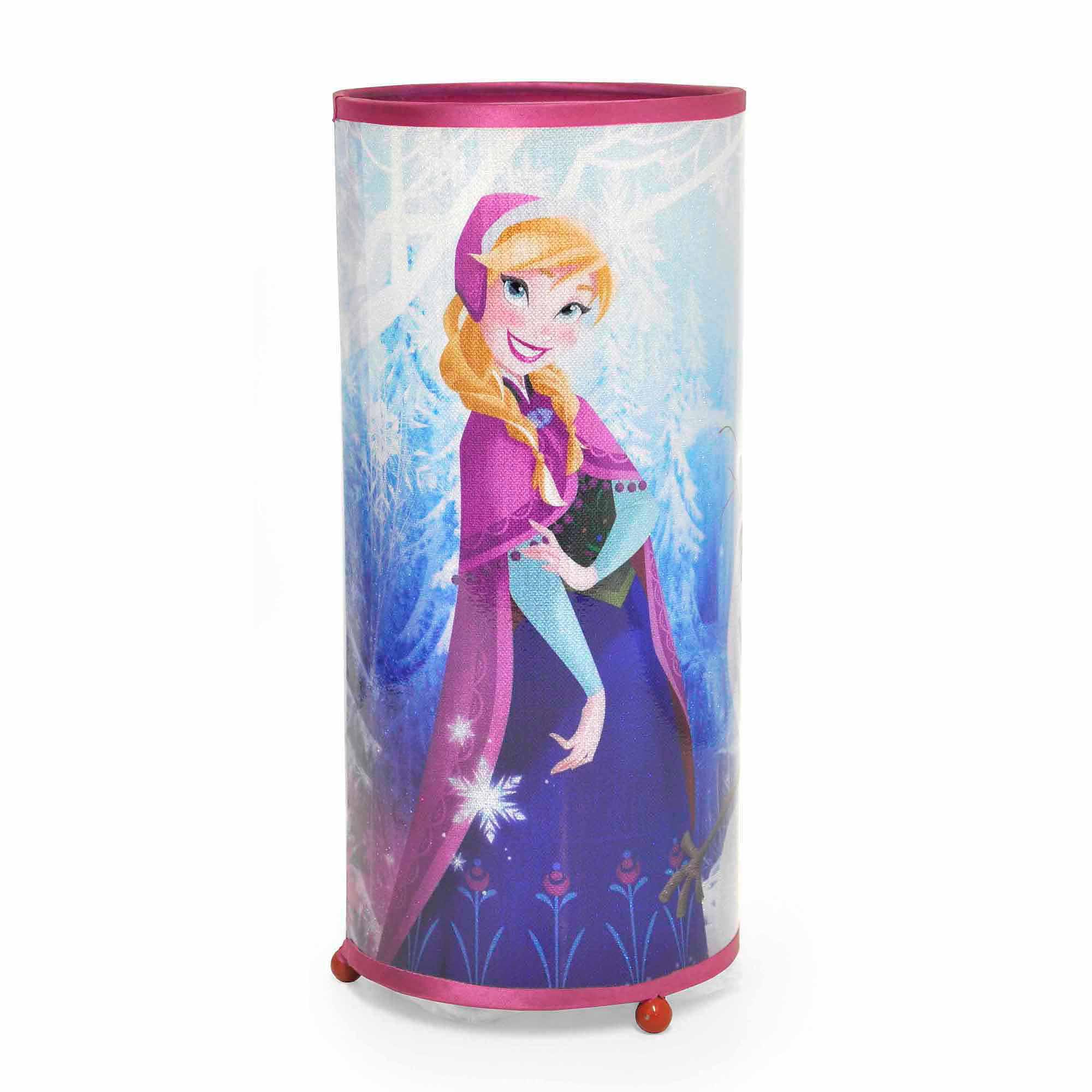 Disney Frozen Anna and Elsa Cylinder Glitter Lamp