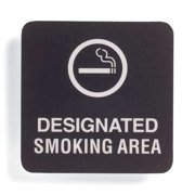 "Smoking Area Sign, Sign Comply, 42305-1 BLACK, 5-1/2""Hx5-1/2""W"