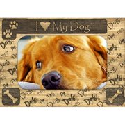 Giftworks Plus IHS0001 I Heart My Dog, Alder Wood Frame, 3.5 x 5 In