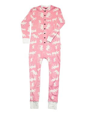 Pink Classic Moose Flapjack Toddler Union Suit