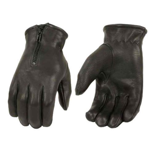 Milwaukee Leather Men's Deerskin Leather Full-Finger Gloves, Black  (3XL) - 3X-Large SH867