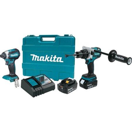 Makita-XT267T 18 Volt LXT Lithium-Ion Brushless Cordless 2-Piece Combo ()