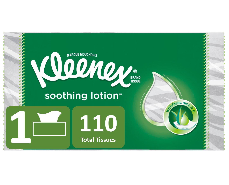 Kleenex Soothing Lotion 2-Ply Facial Tissue, 110 Sheets