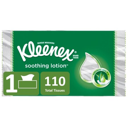 Kleenex Soothing Lotion 2-Ply Facial Tissue, 110 Sheets