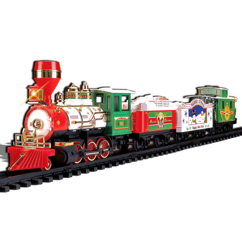 Musical Christmas Train 4-Car Set by Echo Toys
