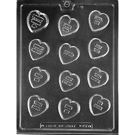 Valentines Day Conversation Heart Chocolate Mold Mould Soap Candy Party Favors m167
