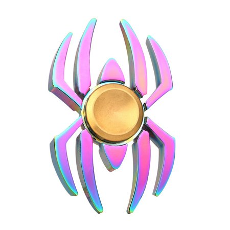 Bluelans Rainbow Edc Spider Spinner Finger Fidget Gyro Focus Toy Adhd Autism Kid Gift