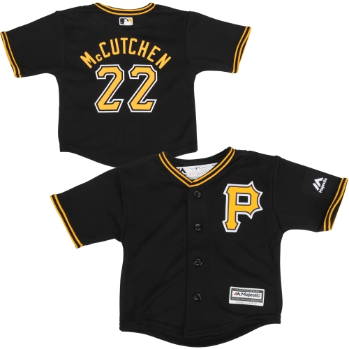 Preschool Majestic Andrew McCutchen Black Pittsburgh Pirates Official Cool Base Player Jersey