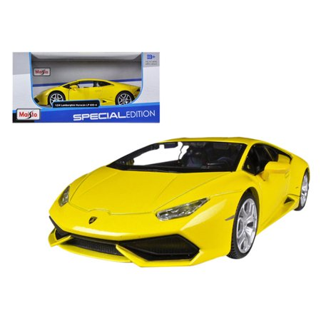 lamborghini huracan lp610 4 yellow 1 24 diecast model car by maisto. Black Bedroom Furniture Sets. Home Design Ideas