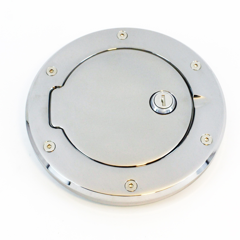 ALL SALES 6099CL 05-09 HUMMER H3 INSIDE SHROUD BILLET FUEL DR 6 3/8 IN RING O.D. 5 1/8IN DOOR O.D.