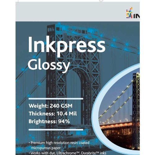 Inkpress PCUG851150 Commercial Glossy Inkjet Paper 8.5 in. x 11in. 50 Sheets