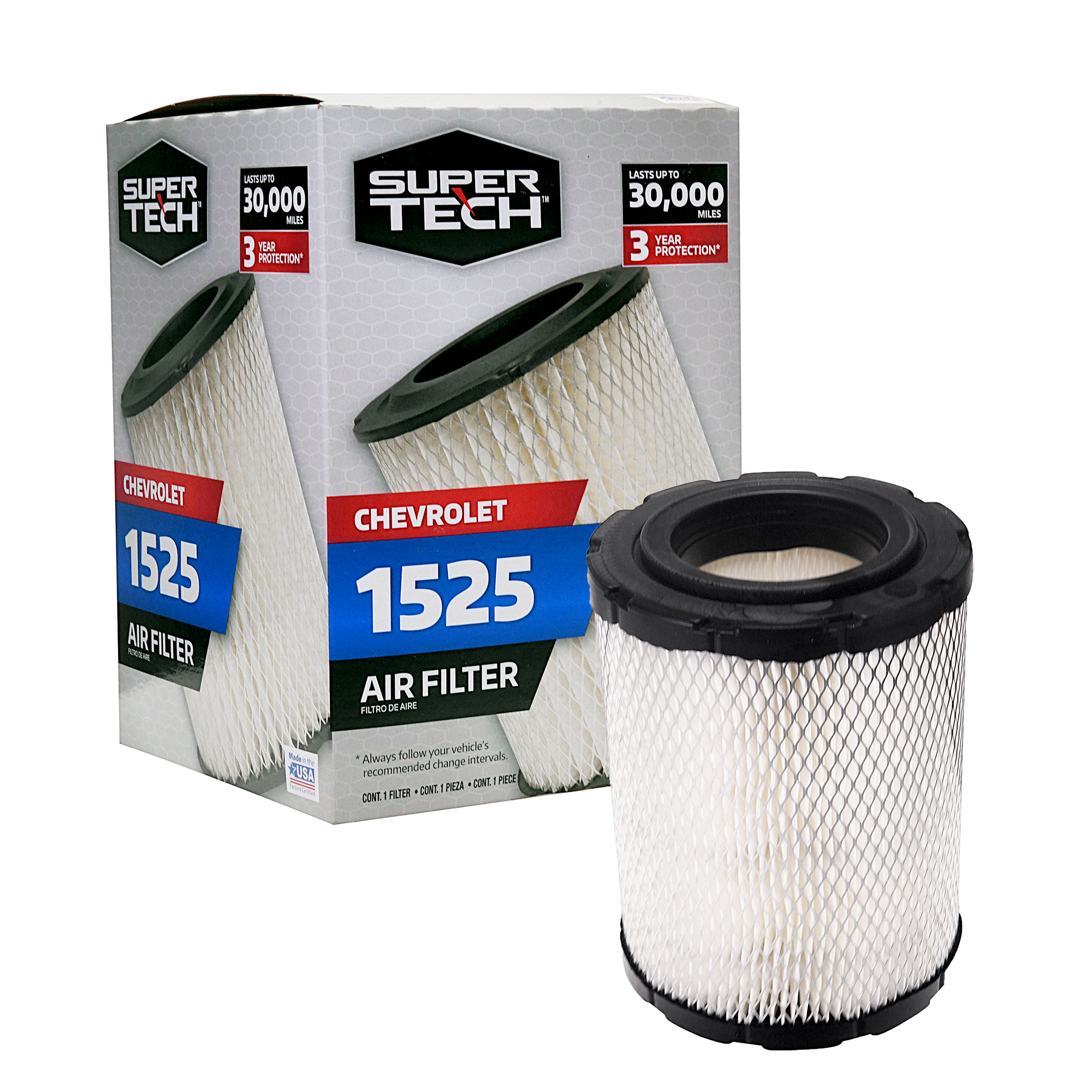 Supertech 1525 Engine Air Filter Replacement Filter For Gm Or Chevrolet Walmart Com Walmart Com