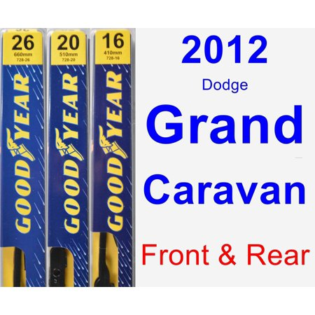 2012 Dodge Grand Caravan Wiper Blade Set/Kit (Front & Rear) (3 Blades) - Premium