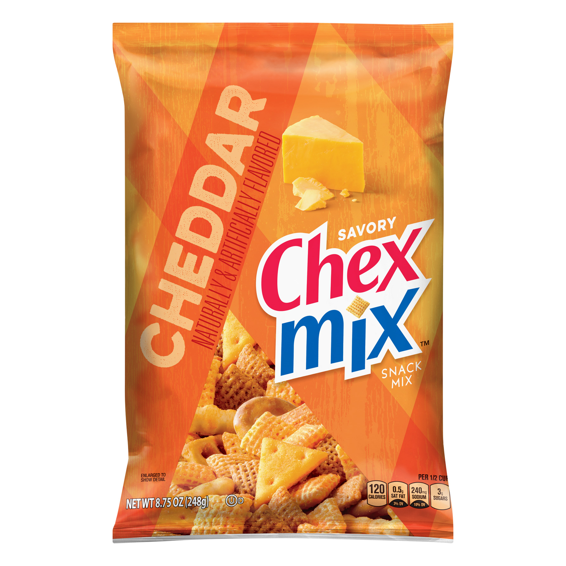 Chex Mix Savory Cheddar Snack Mix, 8.75 oz Bag