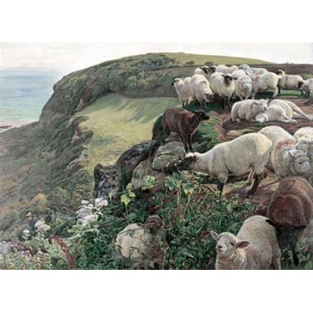 - Our English Coasts - Strayed Sheep Poster Print by  William Holman Hunt