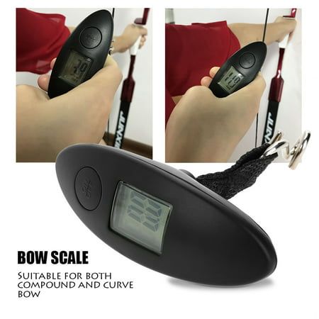 HURRISE Archery Portable Digital Handheld Bow Hang Scale 88lbs Tool for Compound and Recurve Bow,Bow Scale,Archery Accessory ()