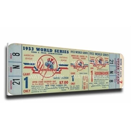 1953 World Series Canvas Mega Ticket New York Yankees TFMBBNYYWS53