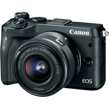 Canon EOS M6 Mirrorless Digital Camera with 15-45mm Lens -