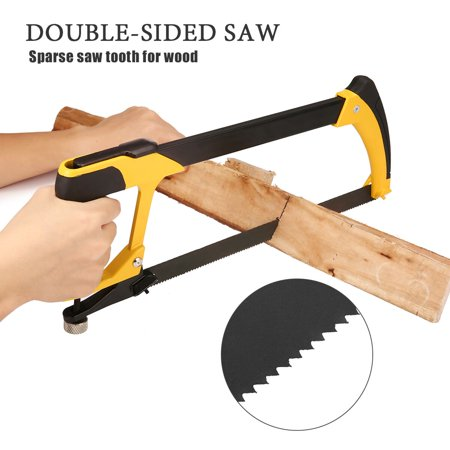 5-in-1 Hacksaw Pathonor Heavy Duty Upgraded, Blade 12 inch/30cm(16 Inch/40cm) 4 Blades for Kitchen, Garden, Glass,Tile, Wood, Metal, Plastic and
